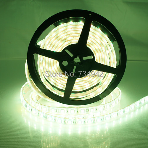 Waterproof-IP68 5 Meter DC 12V SMD5050 Flexible LED Strips 60 LEDs Per Meter, White,Red,Green,Blue,Yellow,RGB, White Background диод xy 20 x 5 100 3 white red yellow blue green