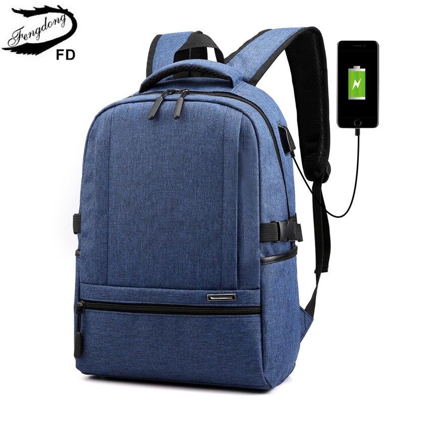 FengDong waterproof school bags for boys usb book bag teen girl school backpack schoolbag kids back pack laptop bags for men dispensador de cereal peru