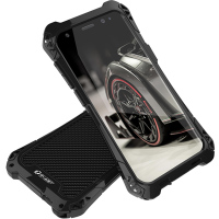 For Samsung S8 Case Samsung Galaxy S8 Plus Case Cove Shockproof Carbon Fiber Aluminum Metal Armor