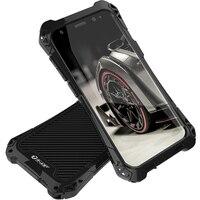For Samsung S8 Case Samsung Galaxy S8 Plus Case Cove Shockproof Carbon Fiber Aluminum Metal Armor