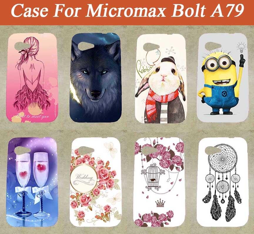 DIY Barevné malované pouzdro módní nové styly SOFT TPU Silikonové vzory Kryty na Micromax A79 Pouzdro 79 na telefon pro Micromax A79