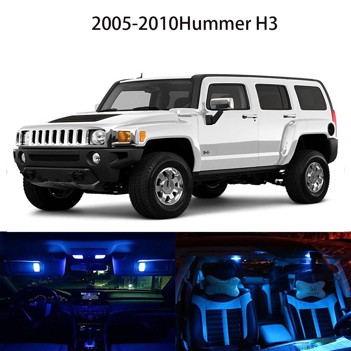 Popular hummer h3 led buy cheap hummer h3 led lots from china 14 bright ice blue interior led package bulbs for 2005 2010 hummer h3 vanachro Choice Image