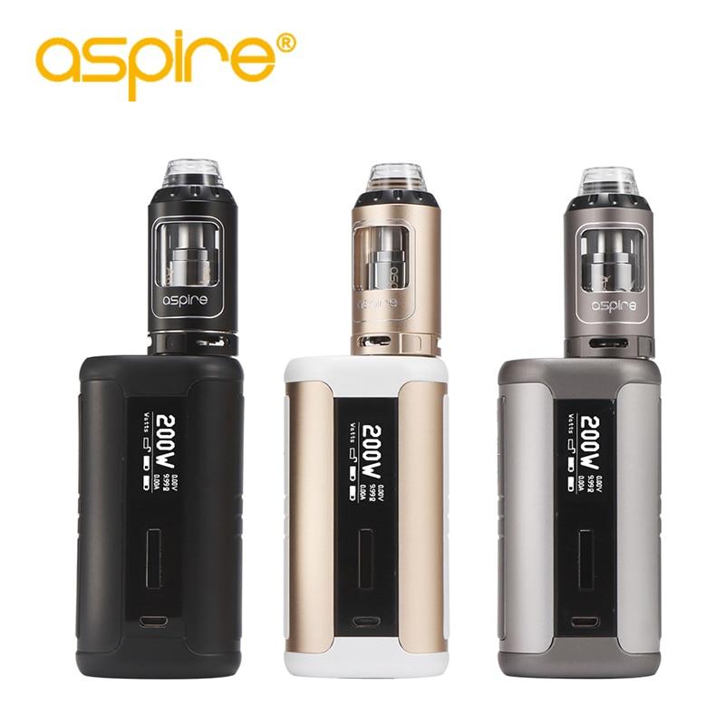 Electronic Cigarette Aspire Speeder Kit With E-Cigarettes 4ml Athos Tank Atomizer Ecig 200W Box Mod Vape Kit Vaporizer 30pcs ecig ce4 battey n vape e cases