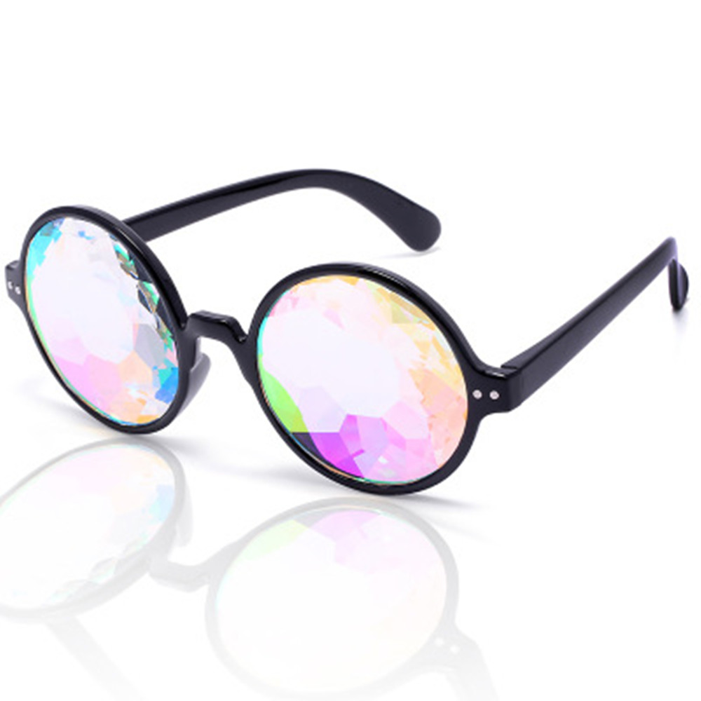 1pcs Promotion Kaleidoscope Glasses Factory Crystal Lens Kaleidoscope Sunglasses Party Glasses,Rave 3d Glasses(China)