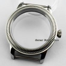 44mm Steriele 316L Stalen Horloge Case Horloge Shell Fit ETA 6497/6498 Seagull ST36 Beweging