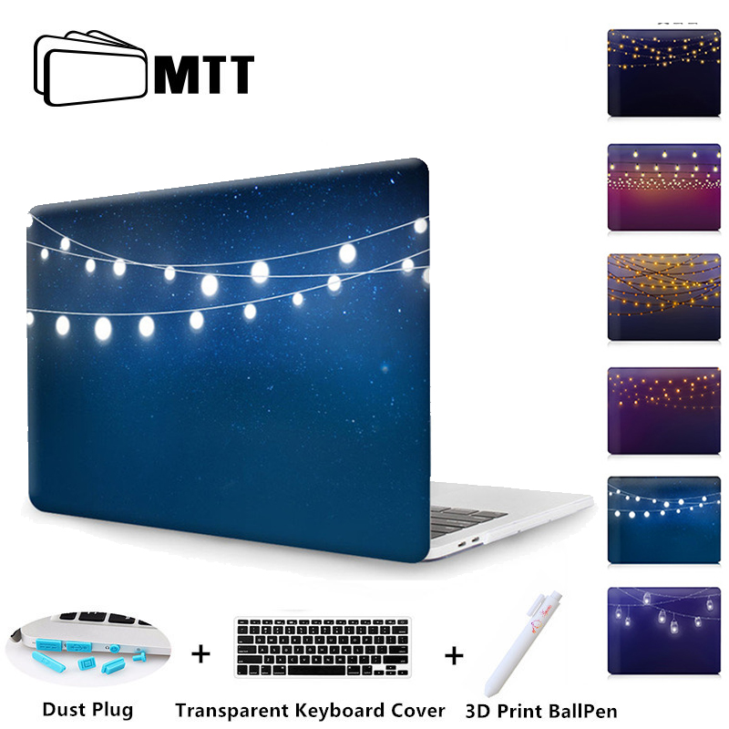 MTT New 2017 2016 laptop Case For Macbook Pro 13 15 Touch Bar A1706 A1707 A1708 Pro Retina Air 11 12 13 Print Cover Halo lights