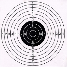 50PCS Outdoor Hunting Shooting Target Paper Target 14x14cm or 17x17cm  High Quality Target Paper