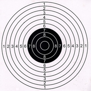 Image 1 - 50PCS Outdoor Jagd Schießen Ziel Papier Ziel 14x14cm oder 17x17cm Hohe Qualität Ziel papier