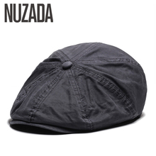 NUZADA British Style Flat Cap Visor Caps Cotton  Women Men U