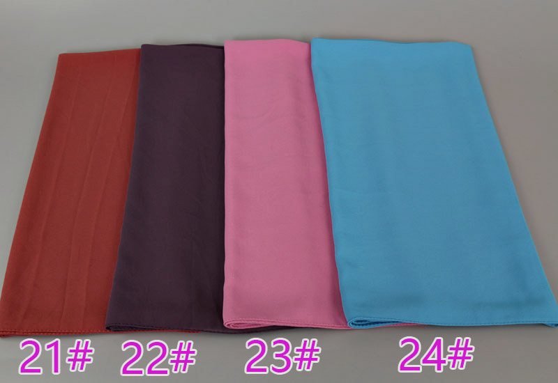 45 Color Women Bubble Chiffon Plain Scarf Printe New Brand Solid Color Muslim Shawl Head Wrap Hijab Scarf/scarves 180*85cm