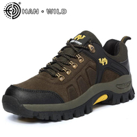 Quality Men Flat Shoes Cow Suede Men Climbing Shoes Genuine Leather Male Lace Up Travel Shoes