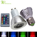 LED 16 Colour RGB Spotlight E27/GU10  RGB bulb AC: 86-265v MR16 DC:12v RGB  Lamp LED 3W Lighting +24 Key IR Remote Control