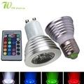 LED 16 Cores RGB Holofotes E27/GU10 RGB lâmpada AC: 86-265 v DC MR16: 12 v RGB Lâmpada LED 3 W Iluminação + 24 Remoto Chave IR controle