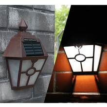 LED Vintage Hexagonal Wall Light Outdoor Waterproof Solar Wall Lamp Motion Activated Garden Patio Yard Lamps White Light(China)