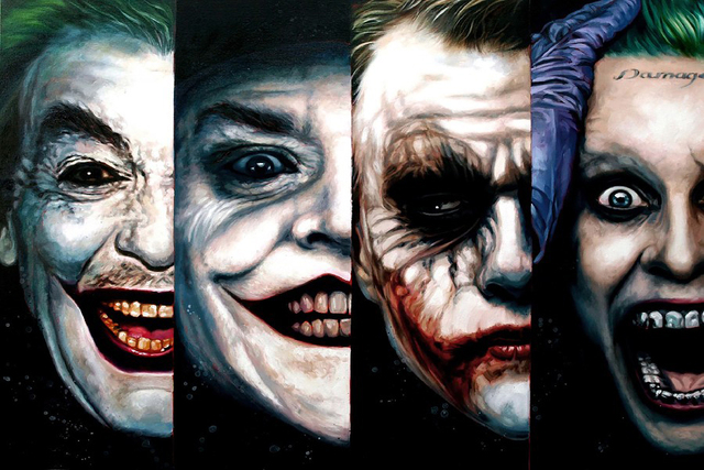 Diy Frame New Jokers In Batman Movie Half Face 4 In 1