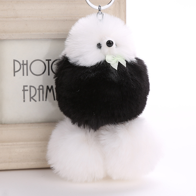 18cm 1pcs Fluffy  Plush Simulation Dog Poodle Keyring Pendant Doll Kids Birthday Gifts toy dolls soft  on HandBag/car Keychain 1pcs 22cm fluffy plush toys white eyebrows cute dog doll sucker pendant super soft dogs plush toy boy girl children gift