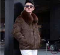 New S/6Xl Mens Imitation Fur Jackets Large Size Black/Coffee Male Stand Collar Fake Fur Outwears Winter Autumn Fur Clothes K513