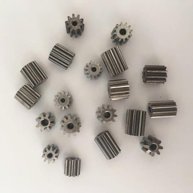 2 Pcs Electric motor metal gear,12V dc motor gear, engine gear 8 teeth 10 teeth 11 teeth 12 teeth for 380 390 550 570 motor(China)