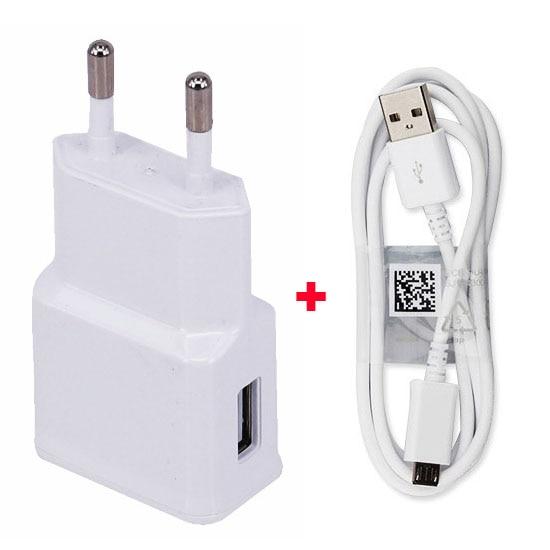 2A Adaptador de EE. UU. De la UE Cargador de teléfono móvil + Cable - Accesorios y repuestos para celulares - foto 1