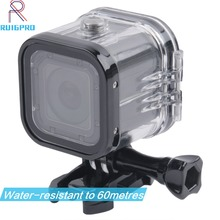 цена на For Go Pro Session Waterproof Shell Case Underwater 60M Protection Housing Box For GoPro Hero 5 4 Session Accessories