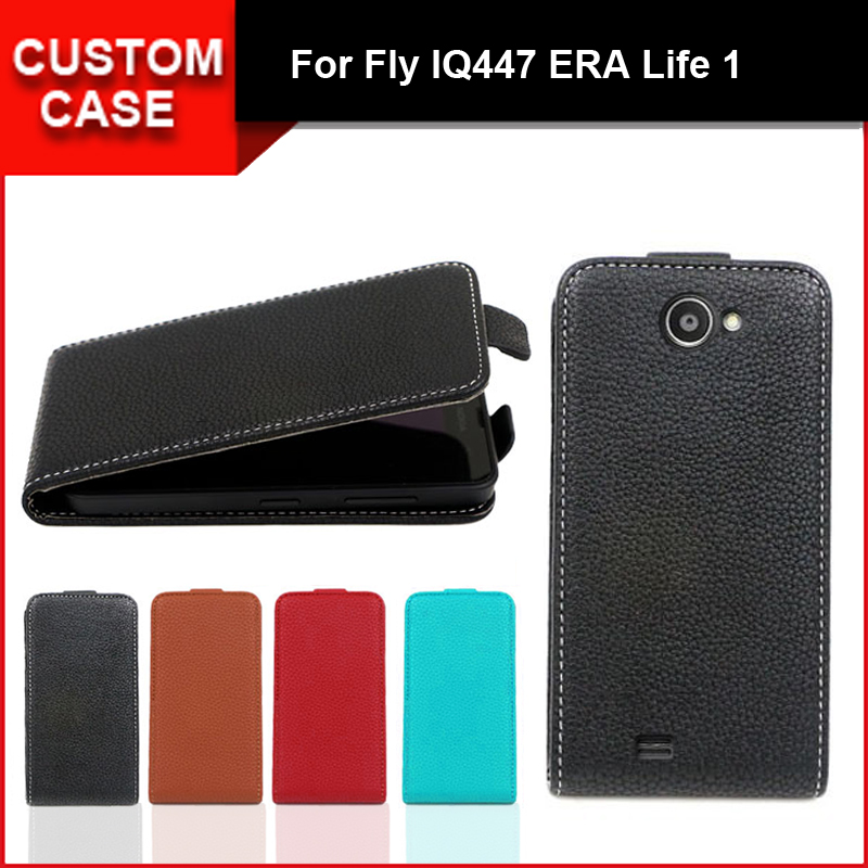 Luxury flip vertical cover bag flip up and down PU Leather Case for Fly IQ447 ERA Life 1, free gift