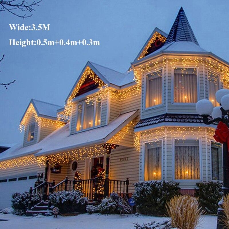 3,5 Mt 96 LEDs Weihnachten String Lichterkette Fenster Vorhang ...