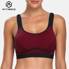 Attraco Womens Sports Bra Hight Impact Padded Support Yoga Breathable Fitness Workout Racerback Top