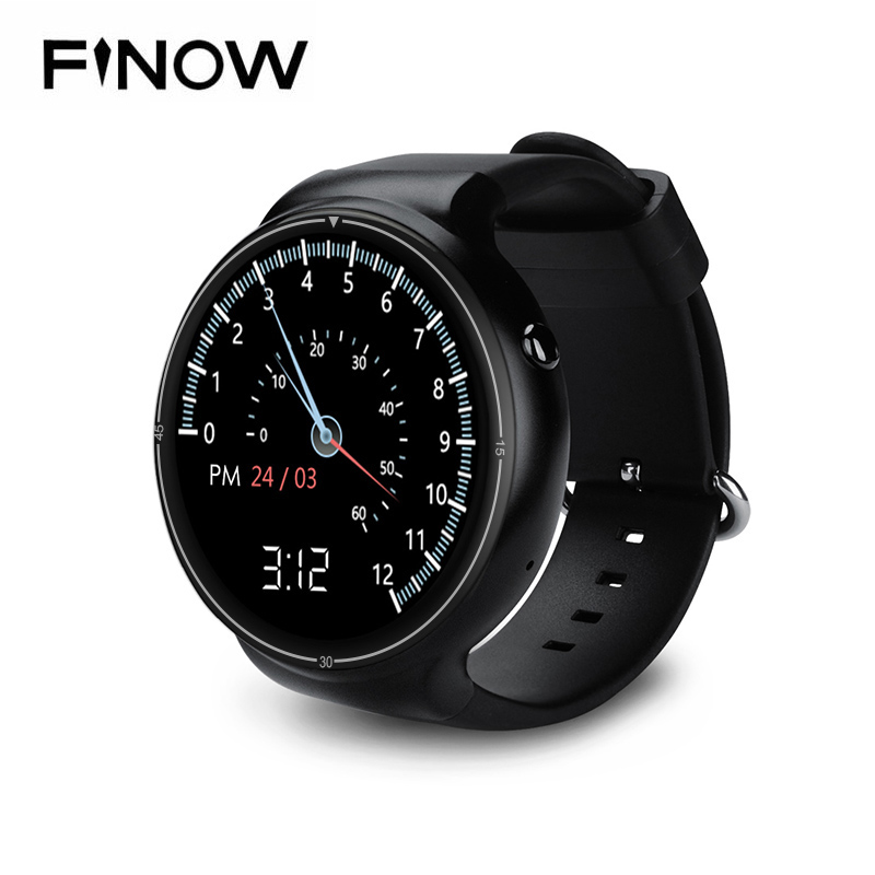 New Finow I4 Pro Smart Watch Ram 2GB/Rom 16GB MTK6580 Dual Core Watchphone Android 5.1 3G Bluetooth Smartwatch for Andorid/IOS