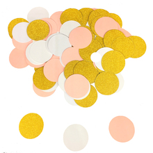100Pcs/Pack Glitter Paper Confetti 3CM Gold Silver Black For Wedding Party Table Scatter Decor DIY Graduation Supplies