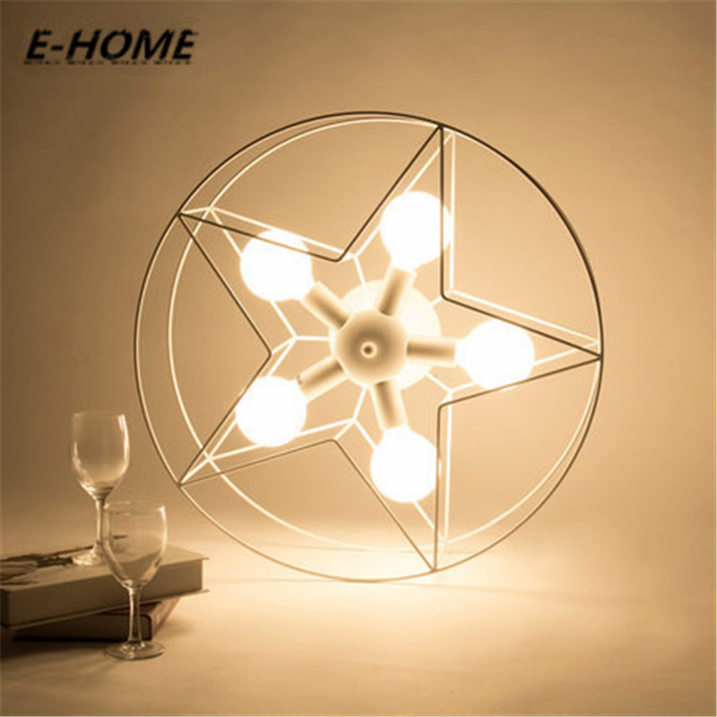 The new five-pointed star modern minimalist creative personality circular living room lights led ceiling lighting modern minimalist 9w led acrylic circular wall lights white living room bedroom bedside aisle creative ceiling lamp