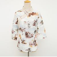 Chinese Improved Multicolor Cotton Linen Ladies' Shirt Handmade Button Novelty V-Neck Blouse Women's Tops S -XXL SY122