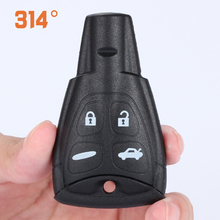 Four-button Black Smart Car Key Remote Control Shell Replacement Suit For SAAB SSSC929395 Accessories