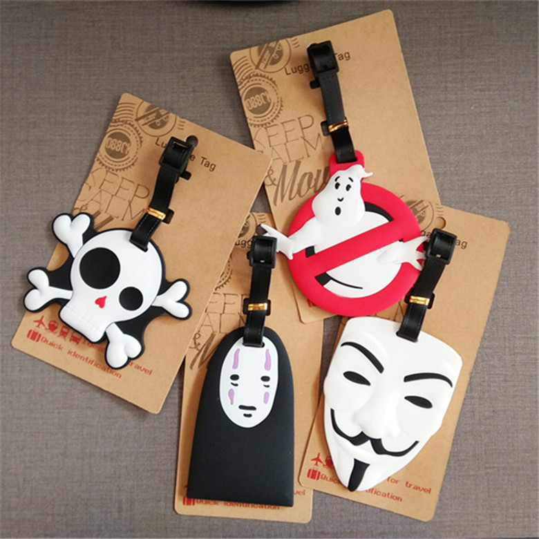 New Ghost Luggage Tag Travel Accessories Animal Cartoon Silica Gel Suitcase ID Addres Holder Baggage Boarding Portable Label