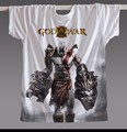 New 2017 Summer Men T-shirt God of war 3D Printing Fashion Punk Shirt Rock band Casual Tee Shirt Black Free shipping