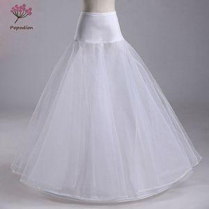 Image 1 - Trouwjurken hoepelrokrok lycra taille jupon tulle mariage wit wedding onderrok drukte crinoline WAS10040