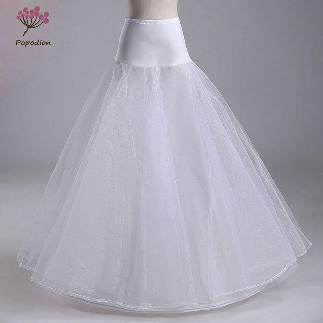 Trouwjurken hoepelrokrok lycra taille jupon tulle mariage wit wedding onderrok drukte crinoline WAS10040