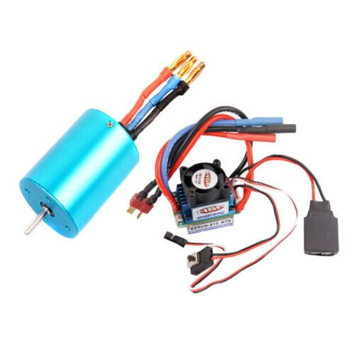 RC HSP 107051 (03302) 540 BRUSHLESS Motor 3300KV + 37017 (03307) ESC 45A 2-3S 4set lot universal rc quadcopter part kit 1045 propeller 1pair hp 30a brushless esc a2212 1000kv outrunner brushless motor