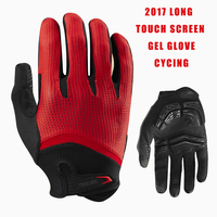 2015 Top Quality Gel Long Finger Cycling Glove For Man Woman MTB BMX DH Off Road