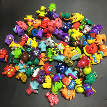 Zomlings Anime Trash Dolls Action Figures 3CM Model Toy Kids Playing Superzings Garbage Doll Christmas Gift Sale 20Pcs/lot(China)