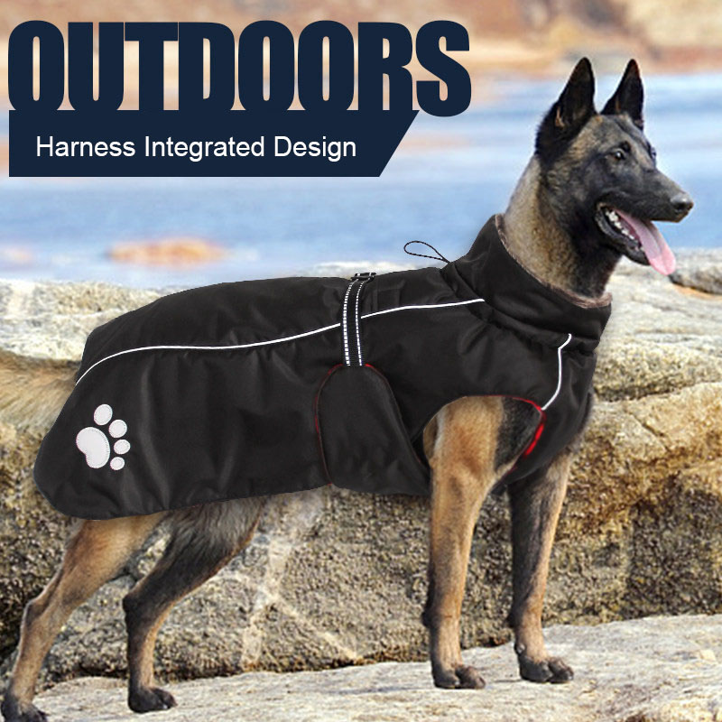 High Quality 5XL Large <font><b>Dog</b></font> Clothes Winter Warm Windproof Big <font><b>Dog</b></font> Jacket Waterproof <font><b>Dogs</b></font> <font><b>Pets</b></font> <font><b>Clothing</b></font> Dropship Wholesale image