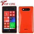 """Envío gratis original nokia lumia 820 windows phone 8 dual core desbloqueado teléfono inteligente con gps wifi 4.5 """"de doble Cámara de 8MP"""