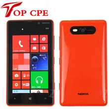 Оригинальный nokia lumia 820 windows phone 8 dual core разблокирован смартфон gps wi-fi 4.5 «двойной 8MP Камера Восстановленное мобильный телефон