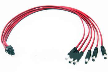 6 pin drehen zu 12 v 6 stücke DC stecker netzteil linie für Donner spiel player cloud für andere DC stecker miner 100 cm lange