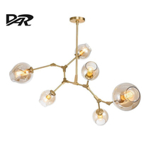 Ramificación de la Burbuja de la Bola de cristal Colgante, Lámparas De Araña de Comedor Sala de estar Moderna Iluminación de la Lámpara Lustre Led Avize E27 Lámpara