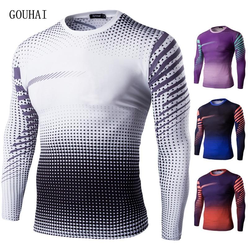 Hangzhou Guan Li Trading Co., Ltd. Store 2017 T shirt Men Long sleeve T-shirt Tight Clothing Shark Tshirt Fast Drying T-shirt Homme Sporting Fashion Man T-Shirts