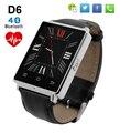 № 1 D6 Bluetooth Smart Watch Phone Шагомер Heart Rate Monitor 3 Г Wi-Fi Smartwatch для iPhone 5s 6 s 7 для Samsung S7 PK U8 GT08