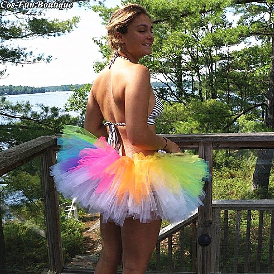 Bulk Neon Tutu Skirt Adult Rainbow Women Skirt Birthday Party Woman Burning Man Autumn Outfit35cm Christmas Fashion Woman Skirt