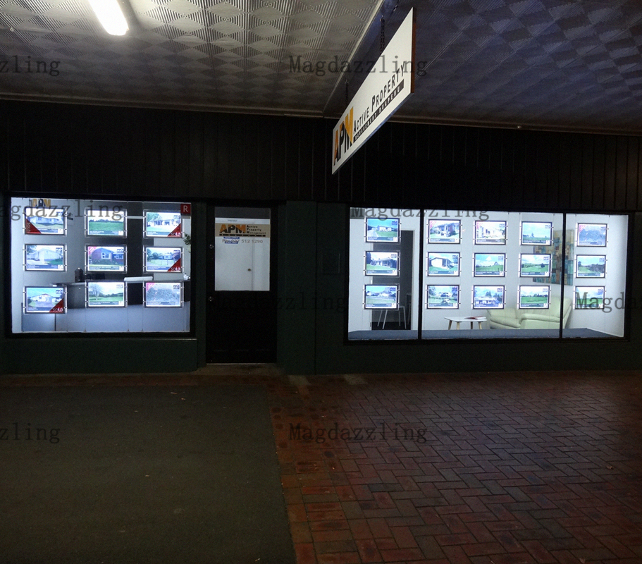 24 Einheiten A4 Einseitig Landschaft Immobilien LED Fenster Display ...