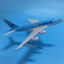JASON TUTU Diecast Metal Aircraft Model 1:200 20cm Korean Air Airbus A380 Plane Model Airplane Model Airplanes Plane Toy Gift 45cm a380 china southern airlines airplane model resin aviation china southern airbus a380 airways scale model creative gift toy