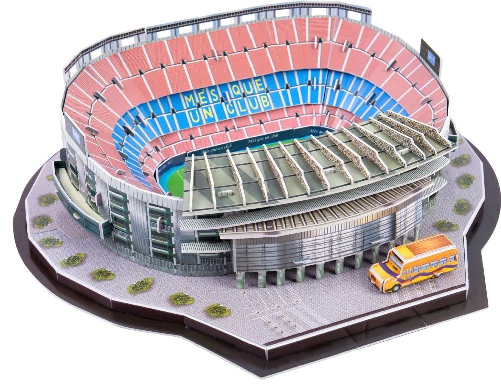 Nouveau papier Stade De Football 2018 Mexicain Espagne Aire de Jeux 3D Puzzle World Architecture Modèle Assemblé Bâtiment Jouets Pour Enfants